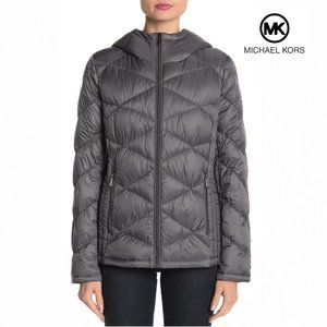 Michael Kors Packable Hooded Quilted Down Jacket